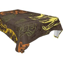 Aideess Home Decoration Dinosaur Polyester Tablecloth 60 X 1