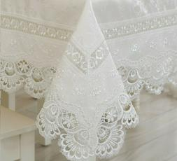 Home Textiles Elegant Lace Linen Table Cloth Covers Wedding