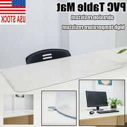Home Transparent PVC Table Cover Table Mat Protector Non-Sli