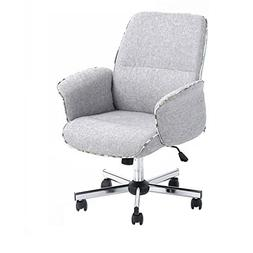 HOMY CASA Home Office Chair Upholstered Desk Chair Fabric Ex