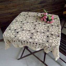 Hot Vintage Hand-Crochet Table Cover Cotton Sofa Towel Squar