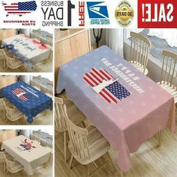 Independence Day Table Cloth Linen Tablecloth Kitchen Decor