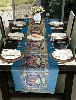 Indian Kitchen Silk Table Mate Runner Brocade Design Home Di