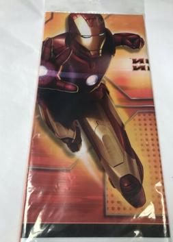 IRON MAN PLASTIC TABLE COVER ~ Birthday Party Supplies Decor