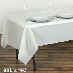 "Ivory RECTANGLE 54x108"" Disposable Plastic TABLE COVER Table"