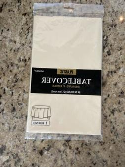 Ivory Tablecover Round 84in  Per Amazon Combined Package Sal