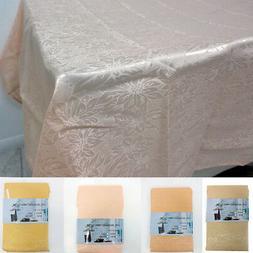 Jacquard Floral Table Cloth Linen 52X70 Rectangle Cover Eleg