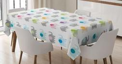 Kids Cartoon Tablecloth Ambesonne 3 Sizes Rectangular Table