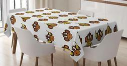 Kids Nursery Tablecloth Ambesonne 3 Sizes Rectangular Table