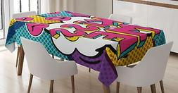 Kiss Tablecloth Ambesonne 3 Sizes Rectangular Table Cover De
