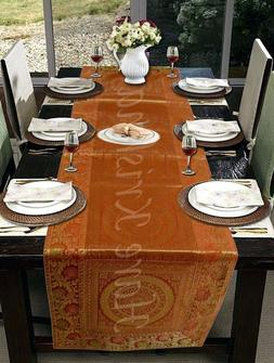 Kitchen Dining Decorative Silk Table Runner Brocade Tapestry