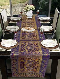 Kitchen Dining Table Cover Protector Brocade Silk Table Runn