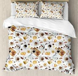 Kitchen Theme Duvet Cover Set Twin Queen King Sizes with Pil