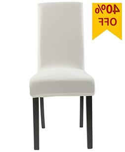 Homluxe Knit Spandex Stretch Dining Room Chair Slipcovers