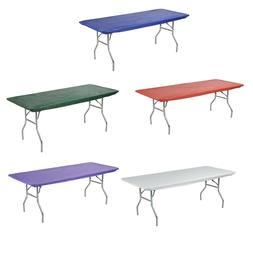 Kwik-Covers Rectangular Fitted Plastic Table Covers, 6' x 30