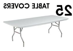 """Kwik-Covers Table Covers 8' Rectangle Plastic 30"""" X 96"""", Whi"""
