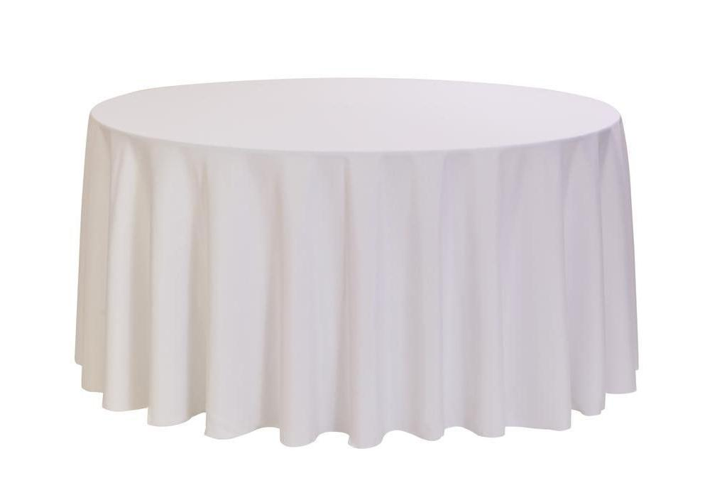 "1 to 50 White 120"" Tablecloth 5' Table Cover"