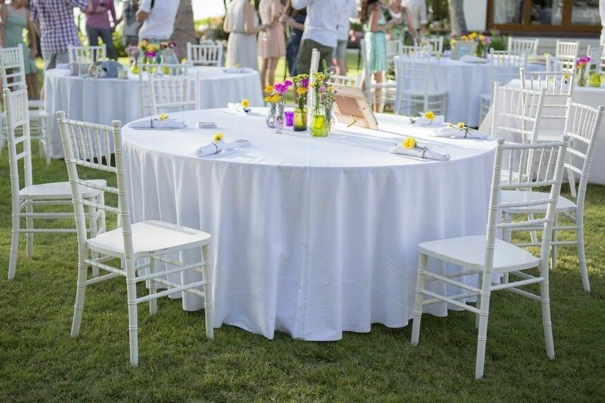 1 to 50 PACK White inch Tablecloth Table Cover