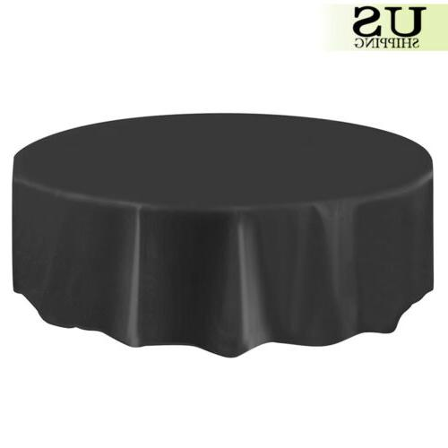 """10/20 Round Plastic Table Cloth Covers Party Favors 84"""""""