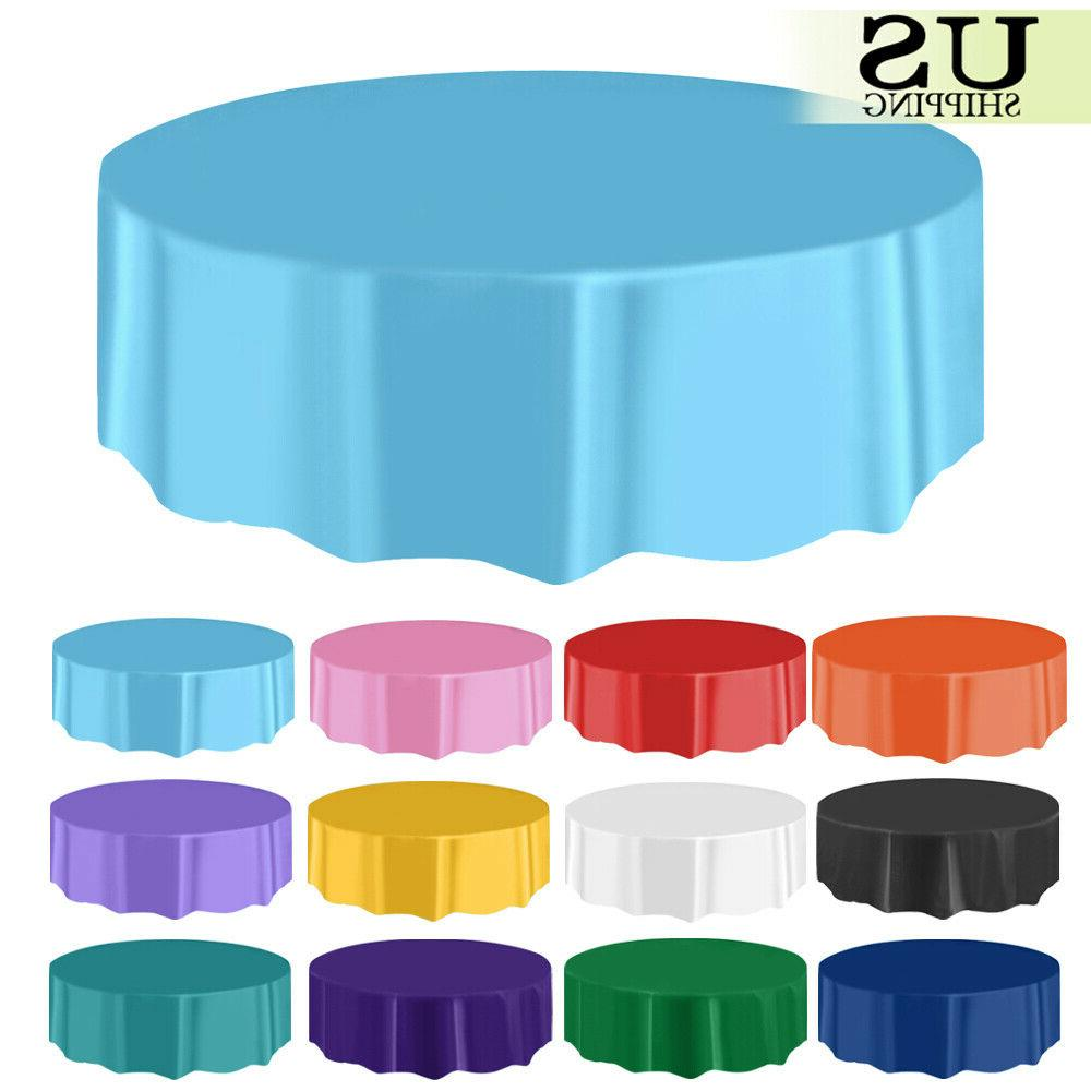 10 20 pack round plastic table cover