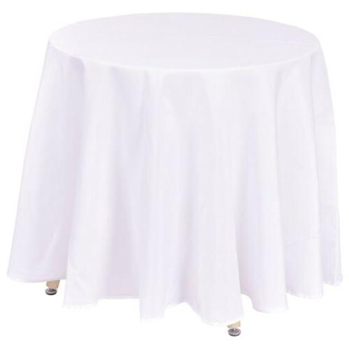 """10 pcs 120"""" Round Tablecloths Table Covers for Wedding Party"""