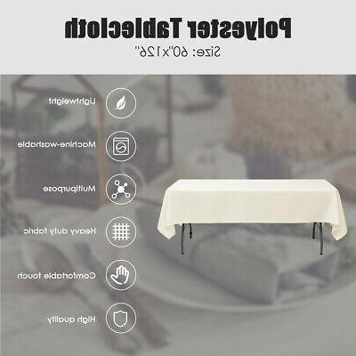 10 PCS 126 inch for Party Home Table Ivory