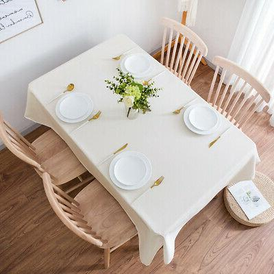 10 60 126 Polyester Tablecloth for Party Home Decor Table Cover Ivory