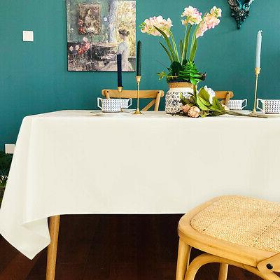 10 60 x 126 Tablecloth for Party Home Table Ivory