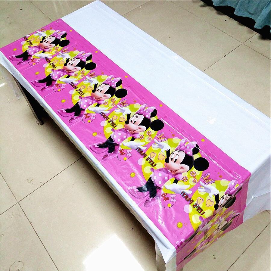108*180cm Minnie Mouse <font><b>birthday</b></font> decoration <font><b>table</b></font> cloth <font><b>party</b></font>