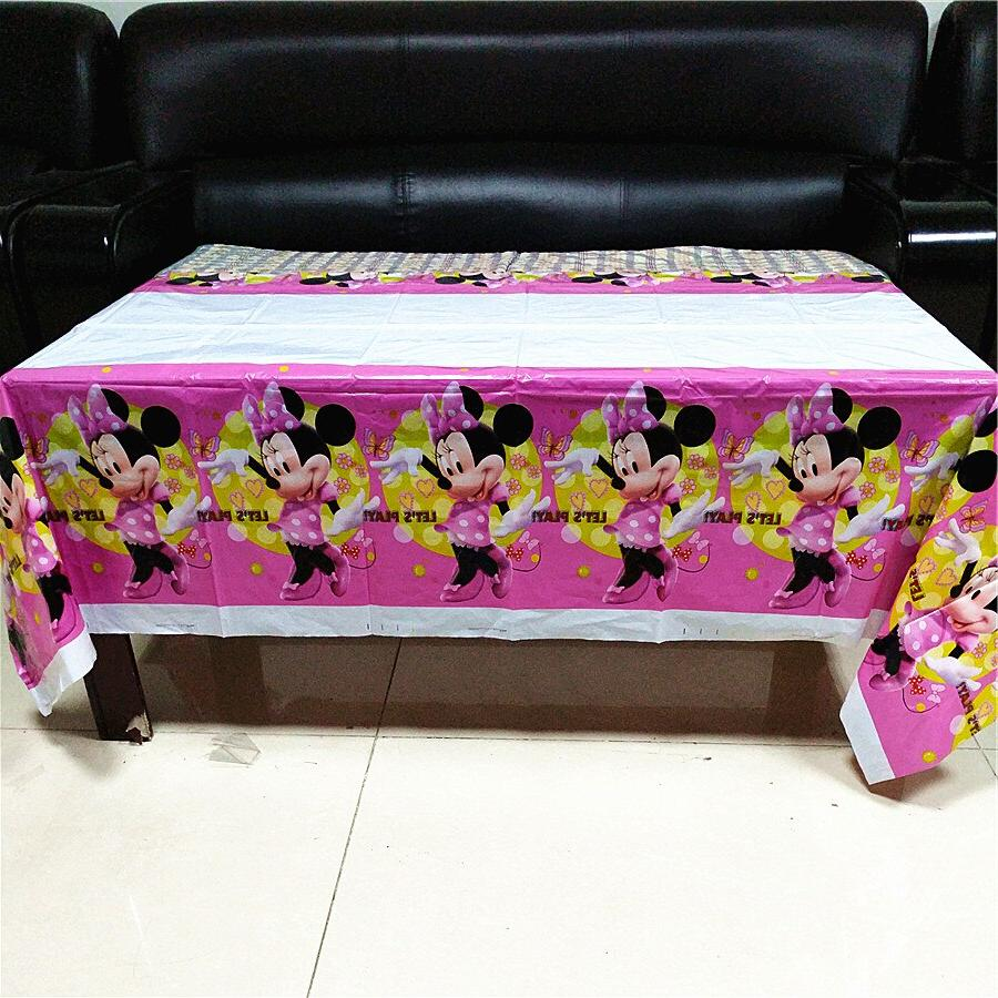 108*180cm Red Mouse <font><b>birthday</b></font> disposable <font><b>table</b></font> cloth Baby <font><b>party</b></font> supplies