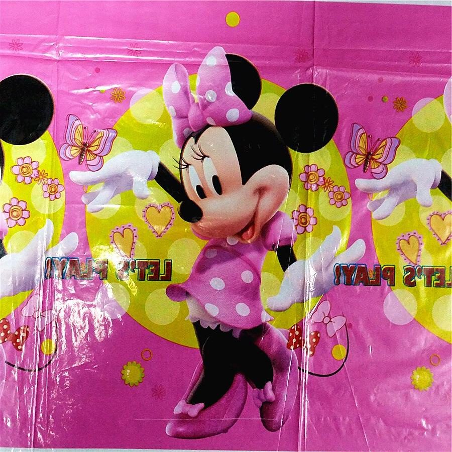 108*180cm Red Mouse <font><b>birthday</b></font> disposable decoration <font><b>table</b></font> cloth Baby Showe <font><b>party</b></font>