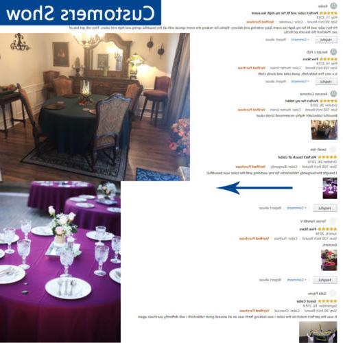 """108"""" Tablecloths Table Parties Holiday"""