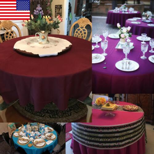 """VEEYOO 120"""" Tablecloth Linen Table Buffet Party Wedding & More"""