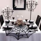 "10×Halloween Party Spiderweb Table Cloth 40"" Black Round La"