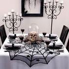 """10×Halloween Party Spiderweb Table Cloth 40"""" Black Round La"""