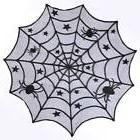 10×Halloween Party Spiderweb Table Cloth Black Lace Table C