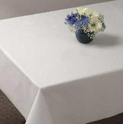 HOFFMASTER 112000 Table Cover,Plastic,54inx108in,Wht,PK12