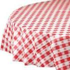 """Hoffmaster 112016 Plastic Round Tablecover, 84"""" Diameter, Re"""