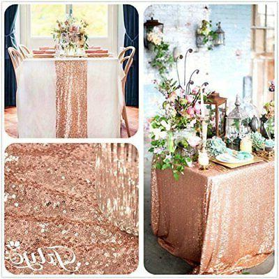 12 by Royal Sequin Table Rose Gold