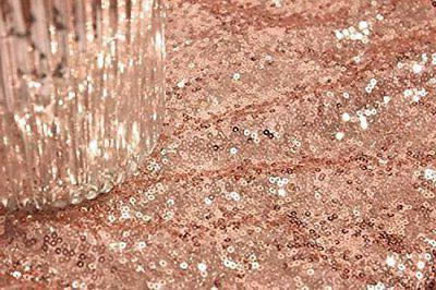 12 by 108-Inch Royal Sequin Runner, Rose