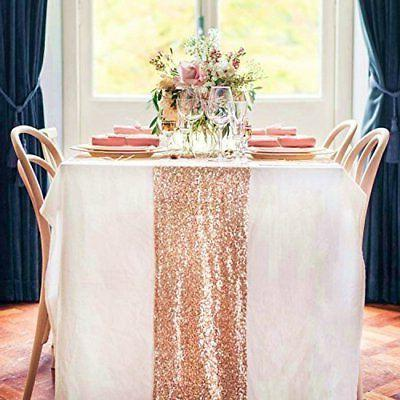 12 by 108 inch wedding royal sequin