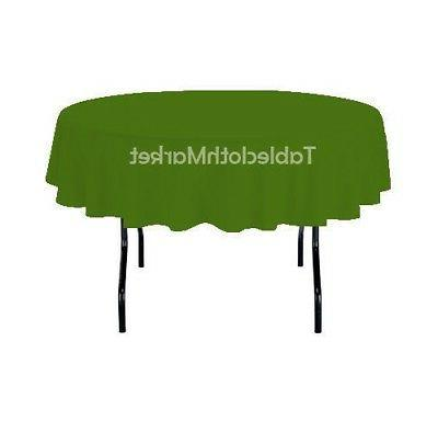 12 pack 90 inch round polyester tablecloth