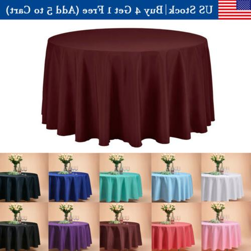 120 inch round tablecloths table cover