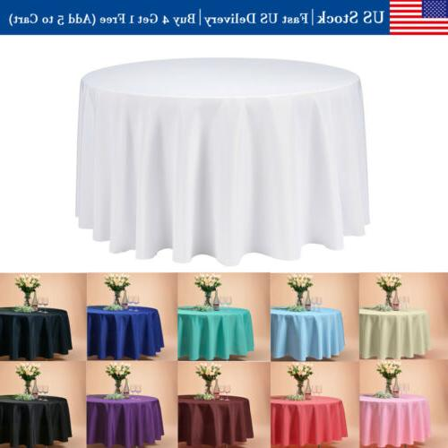 120 round tablecloth linen table cover