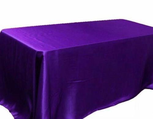 120 60 Rectangular Satin Tablecloth Party SEAMLESS Table Cover