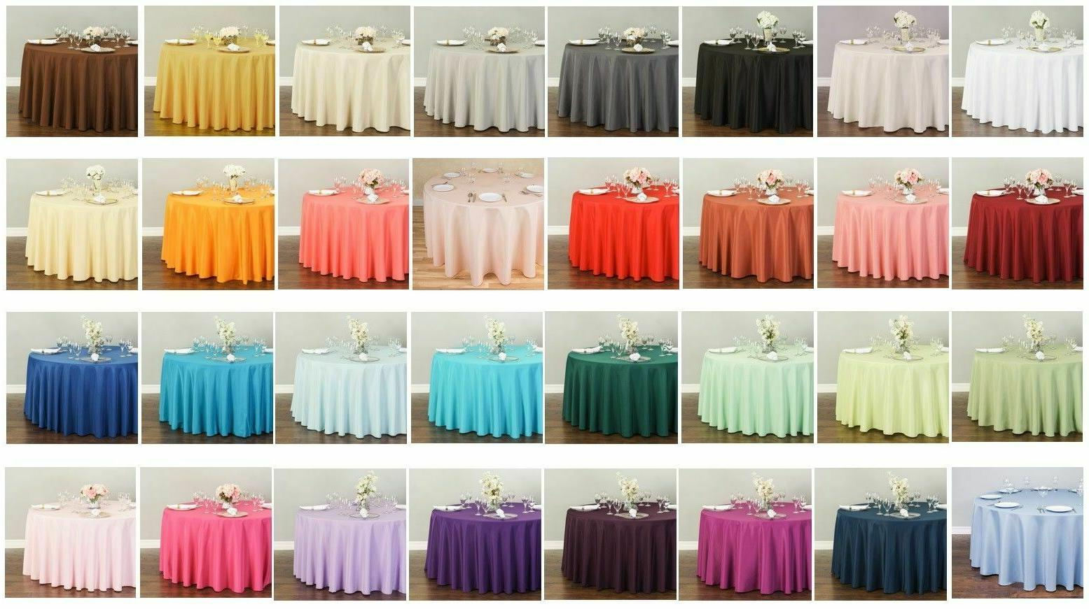 LinenTablecloth 108 in. Round Polyester Tablecloths, 32 Colo