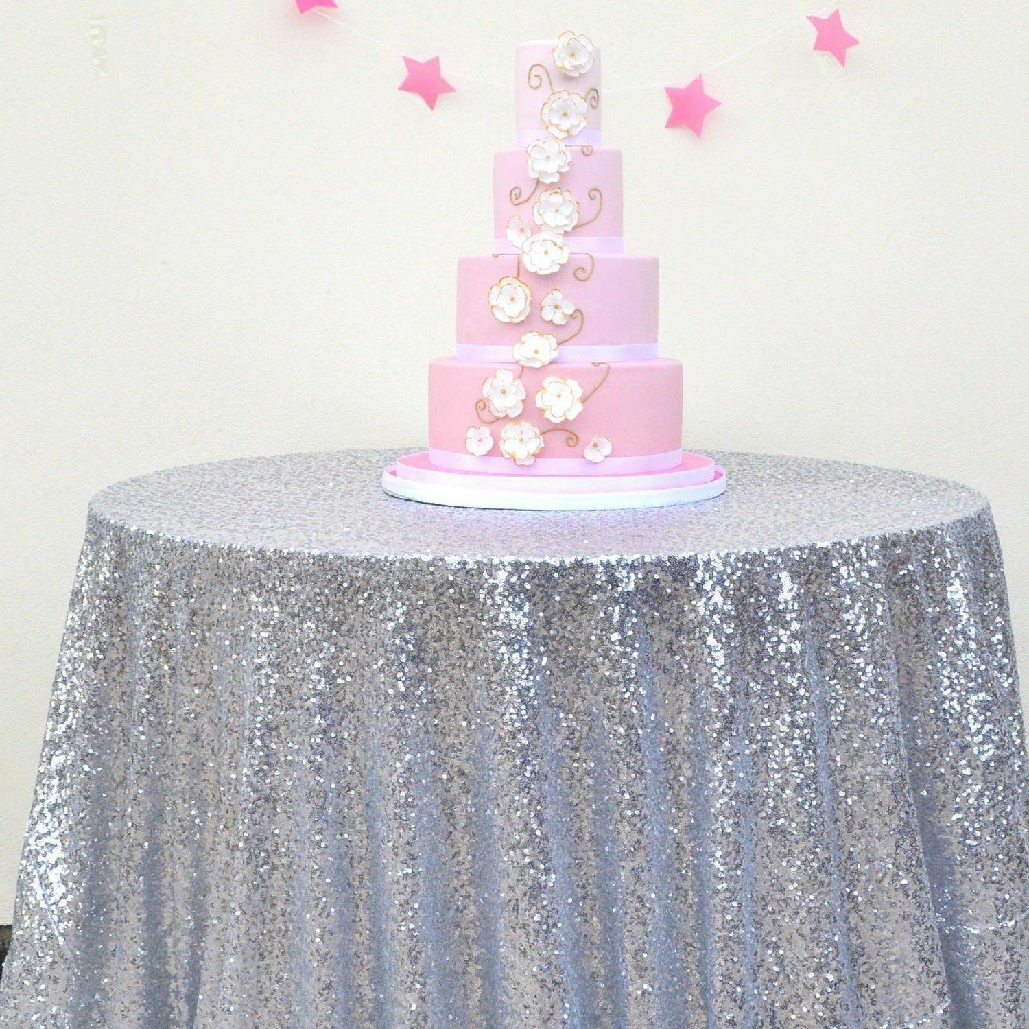 15 Colors 48'' Round Sequin Table cloth Cover For Wedding/Ev