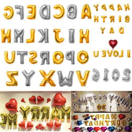16 40 foil letter number balloons birthday
