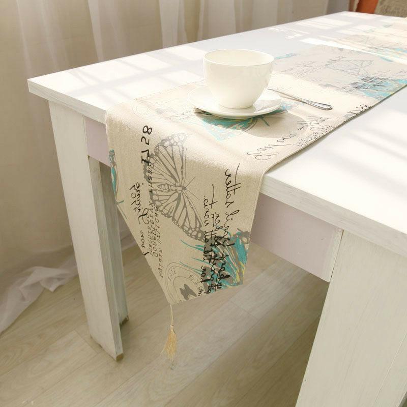 1Pc Cotton Linen Pastoral Table