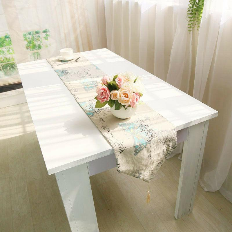 1Pc Table Cotton Linen Insect Pastoral Table Cover New